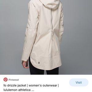 Lululemon fo drizzle rain jacket size 4